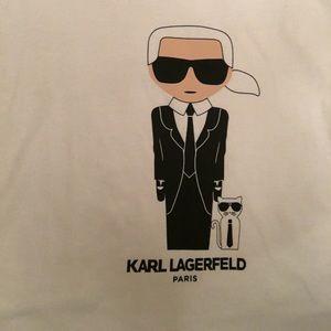 Karl Largerfeld portrait + Choupette ikonik Tee-XL